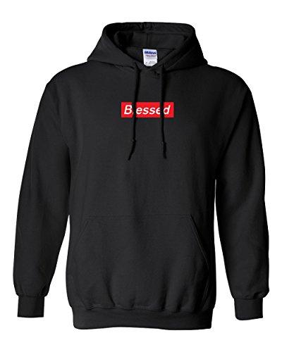 CUSTOM Blessed Supreme Hooded Sweater Sweatshirt Hoodie New - Black