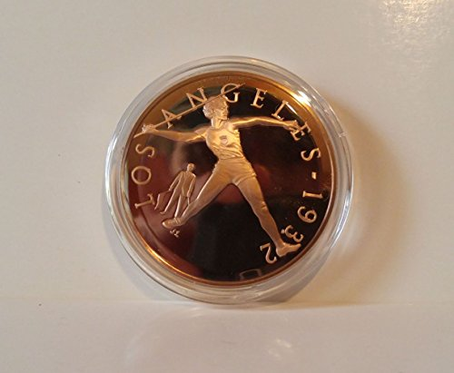 Babe Didrikson wins 3 gold medals & shatters 2 World Records - United States - Javelin - 1932 Los Angeles - Franklin Mint History of the Olympic Games - 1976 Bronze Proof Coin ()
