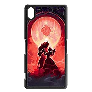 Cartoon Beauty And The Beast Phone Case for Sony Xperia Z2,Passion Style Beauty And The Beast Hard Case Snap on Sony Xperia Z2