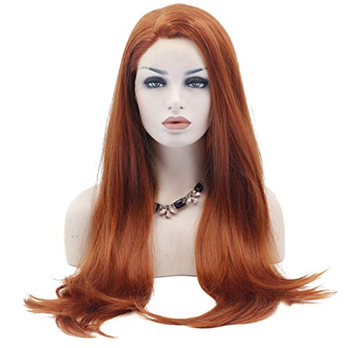 Carriemeow Long Wig Big Wavy Heat Resistant Synthetic Straight Hair with Bangs for Cosplay Costume Halloween Party (Color : As-pictured) ()