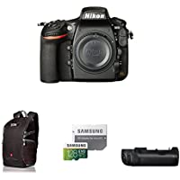 Nikon D810 FX-format Digital SLR Camera Body Deluxe Battery Grip Bundle
