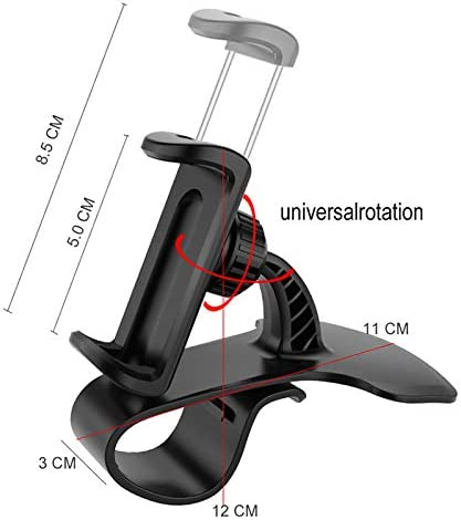 DishyKooker Universal Clip Fold Mobile Phone Stands for i-Phone HUD Type Clip On Car Dashboard Mount GPS Cell Phone Holder Bracket Stand Electronic Cell Phones Accessories for Travel//Work