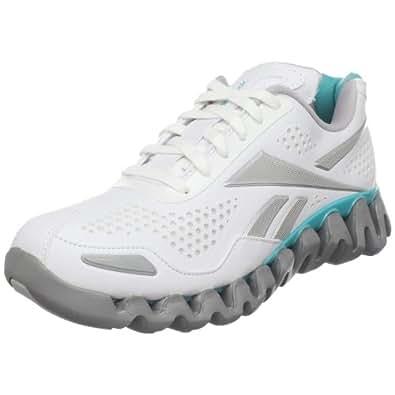 Reebok Women's Zig Flow Running Shoe,White/Glacier Blue/Pure Silver,8.5 M US