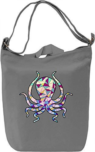 Geometric Octopus Borsa Giornaliera Canvas Canvas Day Bag| 100% Premium Cotton Canvas| DTG Printing|