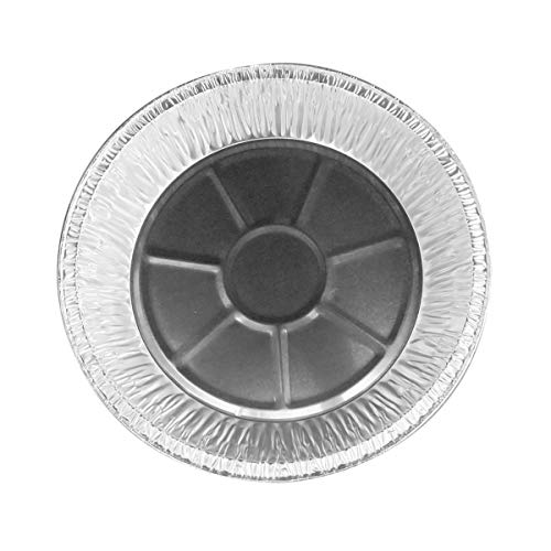 9'' Disposable Aluminum Extra Deep Pie Pans #940- Pack of 12 by Safca