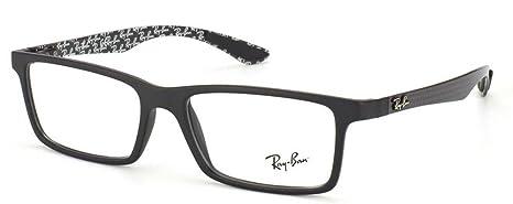 71e4e90d75201 Ray-Ban RX8901 Glasses in Black on Shiny Grey RX8901 5610 55  Amazon ...