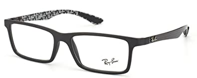 ray ban rx8901 carbon fiber eyeglasses 5263 demi gloss black 53mm