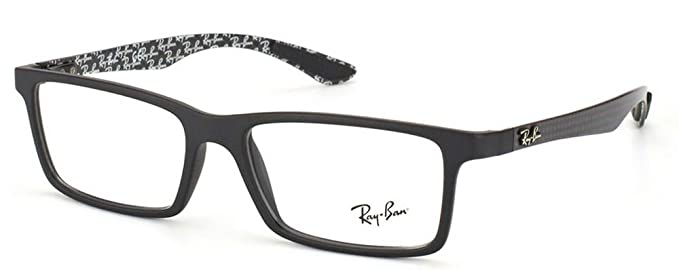 cd54eeb9b0 Ray Ban RX8901 Carbon Fiber Eyeglasses-5263 Demi Gloss Black-53mm