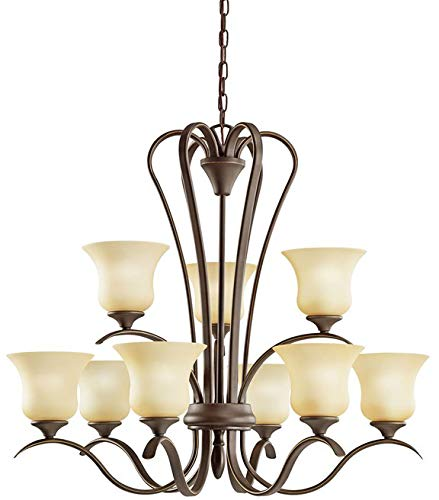 Kichler 2086OZL18 Transitional LED Chandelier from Wedgeport Collection in Bronze/Dark Finish