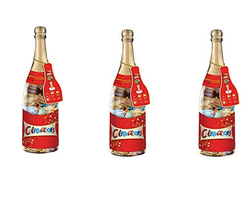CELEBRATIONS Chocolate Variety Mix Candy Bars in 21-Ounce Champagne Bottle (3 Pack)
