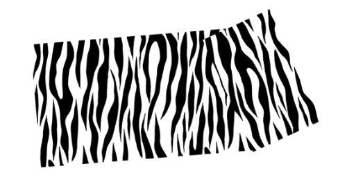 j/fit Zebra Print Yoga Mat, Black/White