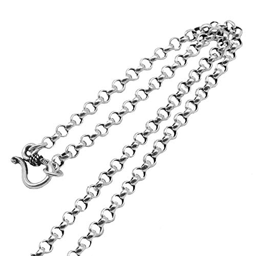 (Solid 925 Sterling Silver Rolo Belcher Link Chain Necklace for Men Women 3.5mm 18 inch)