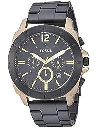 Fossil Privateer Sport Reloj de cuarzo multifunción de acero inoxidable para hombre, Dorado/Negro