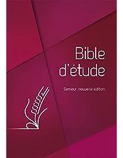 Bible d'étude Semeur, nouvelle édition Couverture rigide rouge, tranche blanche