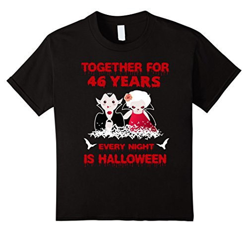 Kids Funny Halloween Costume For Partners. 46th Anniversary Gift. 6 Black