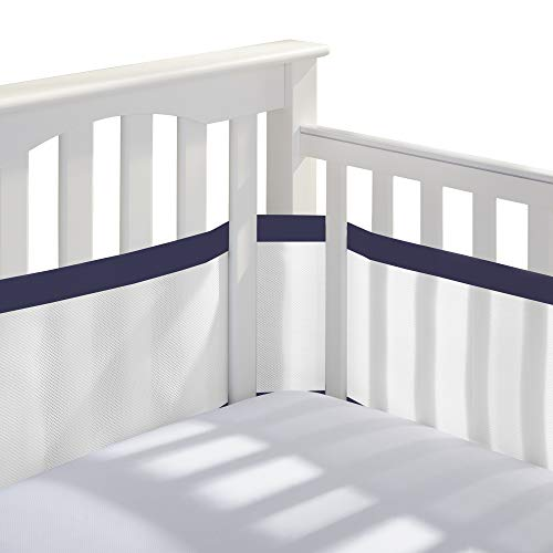 navy blue crib bumper - 3
