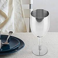 copa de copa de vino de acero inoxidable Copas de champ/án Copa de hogar Copa para beber con tallo Copa de vino de acero inoxidable
