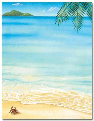 amazon co jp tropical beach stationery paper 80 sheets by great