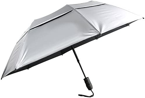 XinGanXian007 Unisex Swimming is My Happy Hour UV Protection Windproof Auto Tri-Fold Umbrella for Outdoor