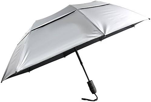 Arctic Oceans Indigo Sun/&Rain Automatic Umbrella Windproof Travel UV