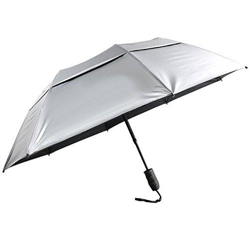 Sun Tek 46'' UV Protection Vented Canopy Umbrella with Auto Open Telescopic Fiberglass Shaft by Suntek