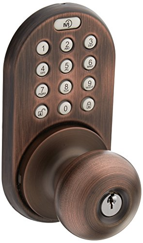 Milocks Xkk 02ob Digital Door Knob Lock With Keyless Entry