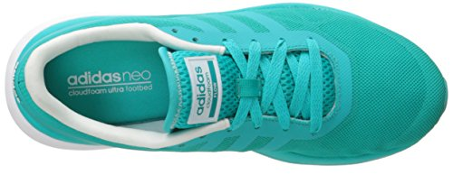 Adidas Neo Donna Cloudfoam Flow W Casual Sneaker Shock Green / Shock Green / Bianco