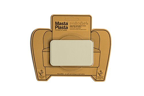 MastaPlasta Self-Adhesive Patch for Leather and Vinyl Repair, Medium, Ivory - 4 x 2.4 Inch - Multiple Colors Available