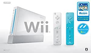 Wii Console (White) Two Wii Remote Plus with Wii Sports Resort [Japan Import]