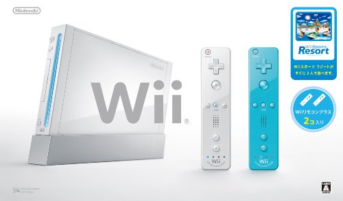 Wii Console (White) , Two Wii Remote Plus , with Wii Sports Resort [Japan Import] ()