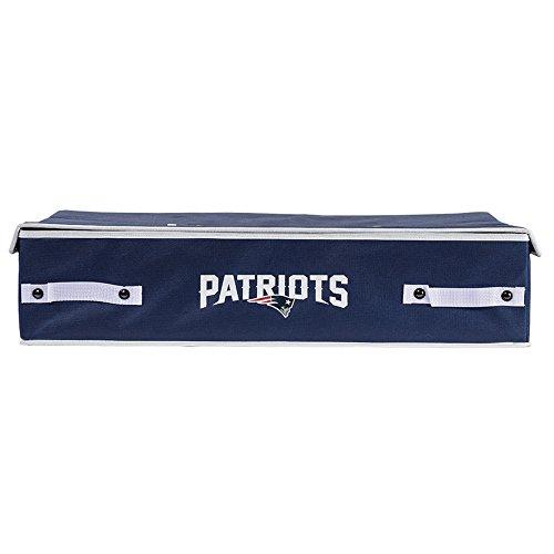 Franklin Sports NFL New England Patriots Under The Bed Storage Bins - -
