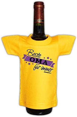 Goodman Design Originelle Flaschenverpackung - Beste Oma für Immer - Mini T-Shirt als Geschenk für alle lieben Omis!