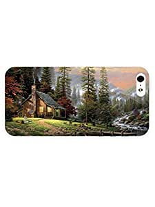 3d Full Wrap Case for iPhone 5/5s Animal Cabin By The River