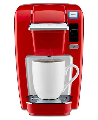 Keurig 119419 K15Red K15 Single Serve Compact K-Cup Pod Coffee Maker, Chili Red, 6.90' x 10.70' x 10.80'