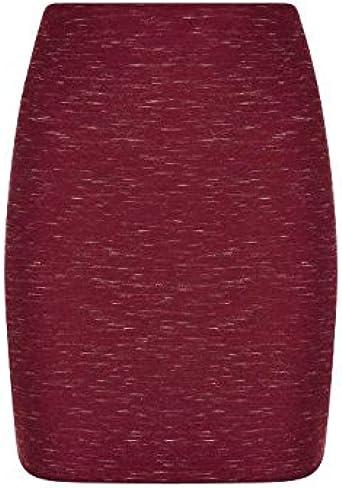Borgoña Espacio Tinte mini falda de la Mujer: Amazon.es: Ropa ...