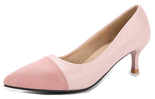 Simple Escarpins 5 Toe Lady Aisun Femme Kitten Cheville Travail heel Rose 5cm Cap Bride 5nA6S76q