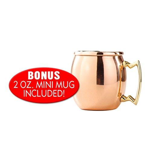 Old Dutch 2-Pack 16 Oz Moscow Mule Mugs with Bonus Mini Mug Kitchen & Dining