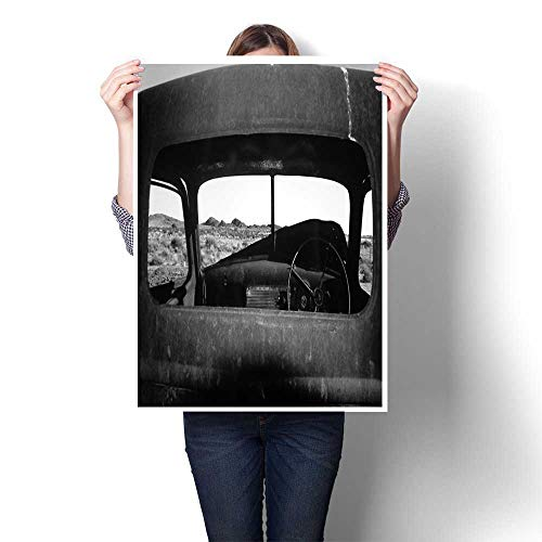 homehot Wall hangings Rear Window View Decorative Fine Art Canvas Print Poster K 32