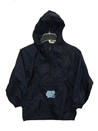 Genuine Stuff North Carolina Tar Heels Navy Blue NCAA Kids Half Zip Lightweight Jacket (Kids 5-6)