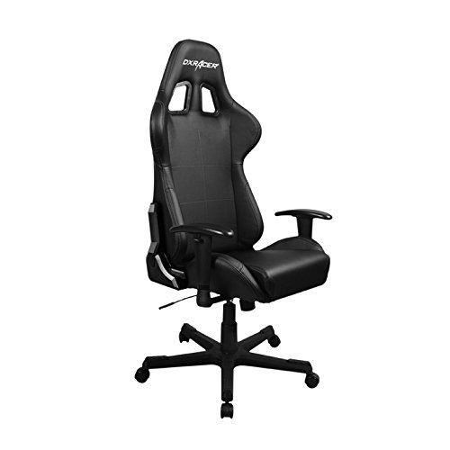 DXRacer FD99/N Racing Bucket Seat Office Chair Gaming Ergonomic with Lumbar Support (Black)