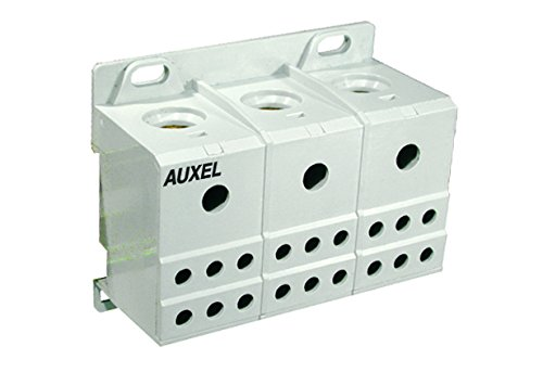 ALTECH 38075 IP20 Finger Safe 8-2 AWG 3 Phase DIN Rail Power Distribution Block - 1 Item(s) ()