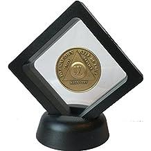Black Diamond Square Medallion Challenge Coin Chip Display Stand Holder Magic Suspension Box