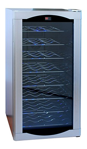 AKDY 20 Bottle Touch Panel Single Zone Wire Wood Shelves Freestanding Wine Cooler