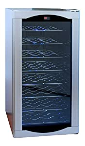 AKDY 32 Bottles Single Zone Thermoelectric Freestanding Wine Cooler Cellar w/ Adjustable Control : excellent purchase