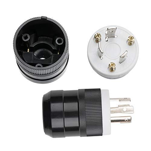 Hitbox NEMA L6-30P Enchufe 30r 30 amp 250 voltios Tensor de bloqueo Tensor de grado industrial Conexión a tierra Enchufe del...