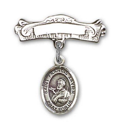 Icecarats Créatrice De Bijoux En Argent Sterling St. Francis Charme Xavier Broches Badge Arc 7/8 X 7/8