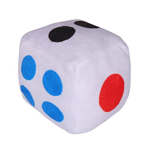 Cube Punt Miniature - 10cm Creative Dice Cloth Doll Plush Toy Fun Game - Gage Play Gritty Fiddle Spirited Flirt Mettlesome Gamy Courageou Fearless Dally Bet Biz Spunky Dog - 1PCs by Unknown