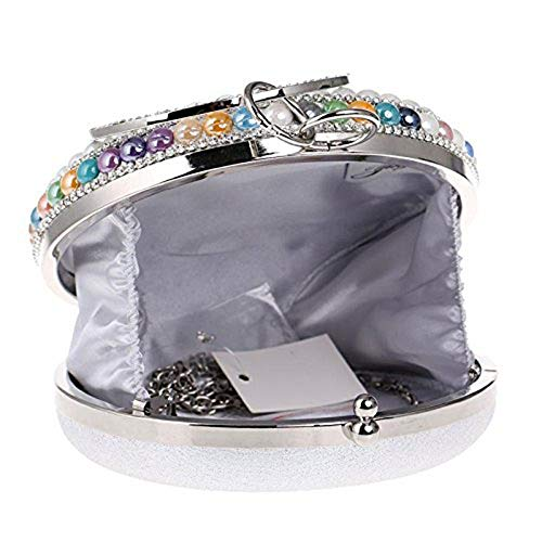 diamanti da perle strass Wallet donna da Hi Borsa party Mini borsetta sposa smile wedding con CxwqgnSZ8