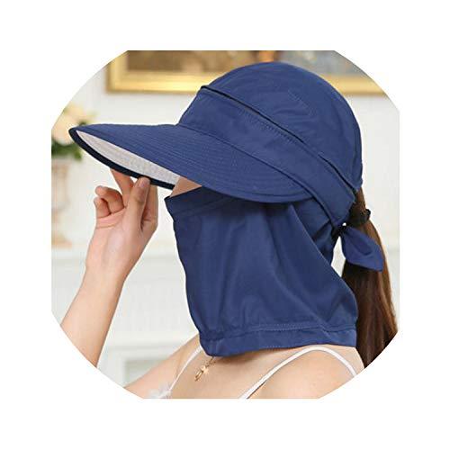 Fashion Women's Foldable Sun Hat UV Protection Wide Brim Sun Hat,Navy]()