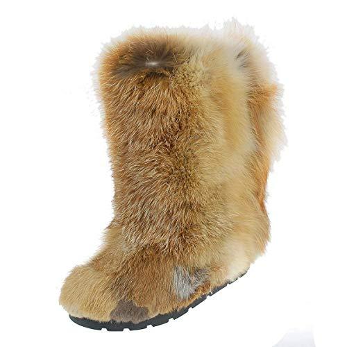 Fox Fur Boots For Women, Mukluks, Yeti Boots, Eskimo Boots, Long Boots, Mukluk Boots, Furry Snow Boots LITVIN]()